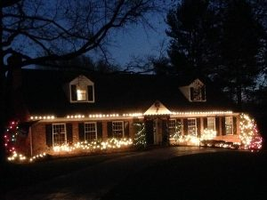 Holiday lights in Chester County